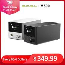 Smsl m500 mqa usb dac auscultadores amplificador es9038pro decodificação de áudio xmos xu216 dsd512 32bit/768khz usb/opt/entrada coaxial