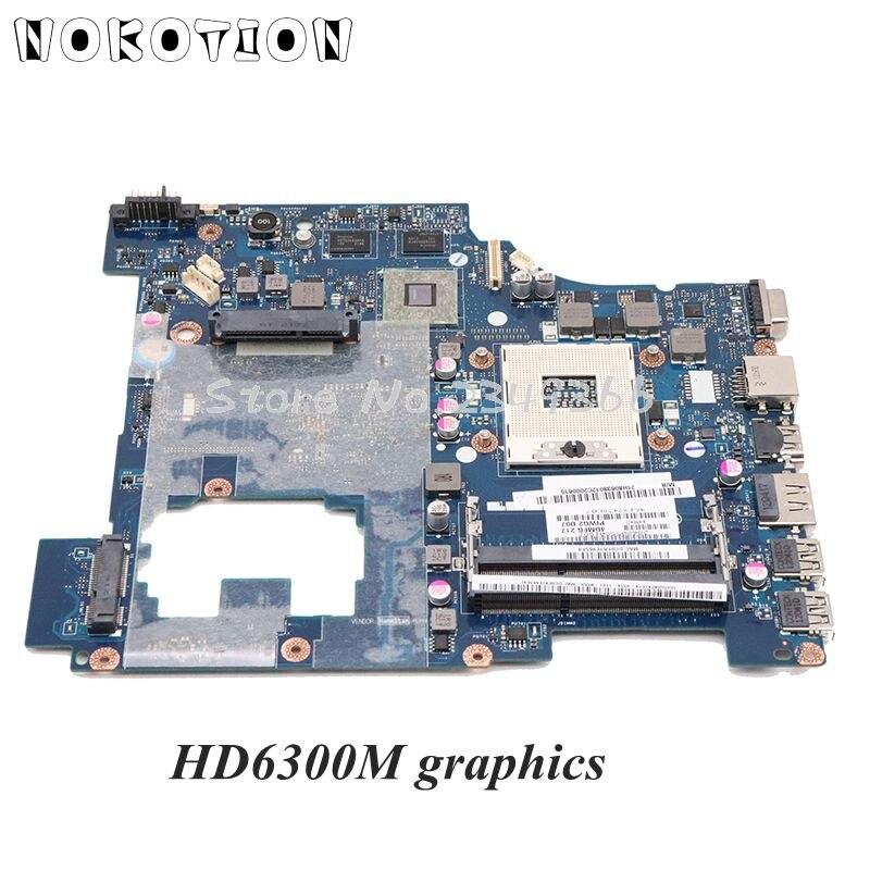 Board para Lenovo Placa de Vídeo Nokotion Laptop Motherboard Principal G570 Hm65 Ddr3 Hd6300m Piwg2 La-6753p