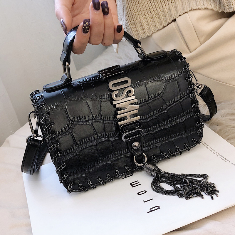 Louis Brand Tassel Fashion Women Bag Leather Handbags Shoulder Bag Small Flap Crossbody Bags for Women 2019 Messenger Bags Purse