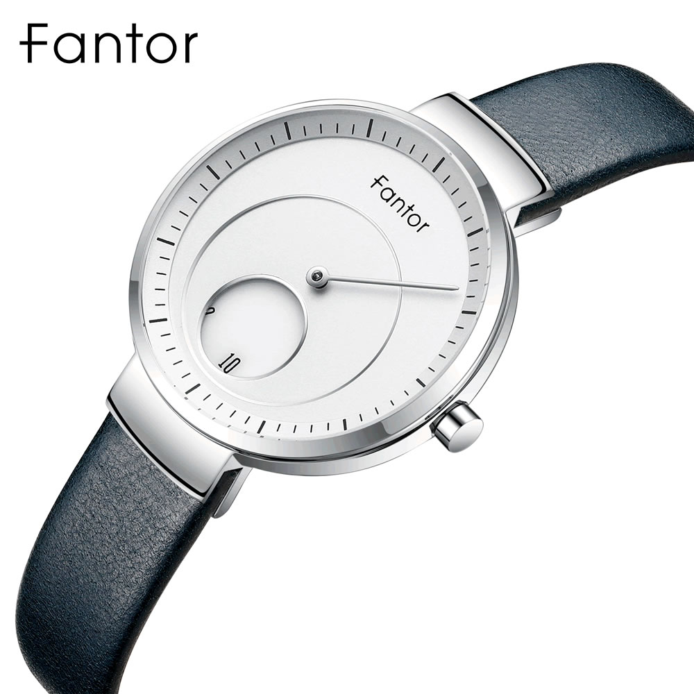 Fantor Women Ladies Top Brand Minimalist Wrist Watch Leather Creative Dial Relogio Feminino Fashion Woman New Wristwatch Female