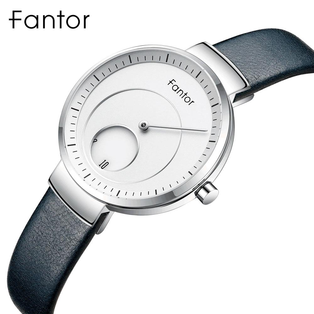 Fantor Women Watches Ladies Top Brand Minimalist Wrist Watch Leather Creative Dial Relogio Feminino Fashion Woman Watch New