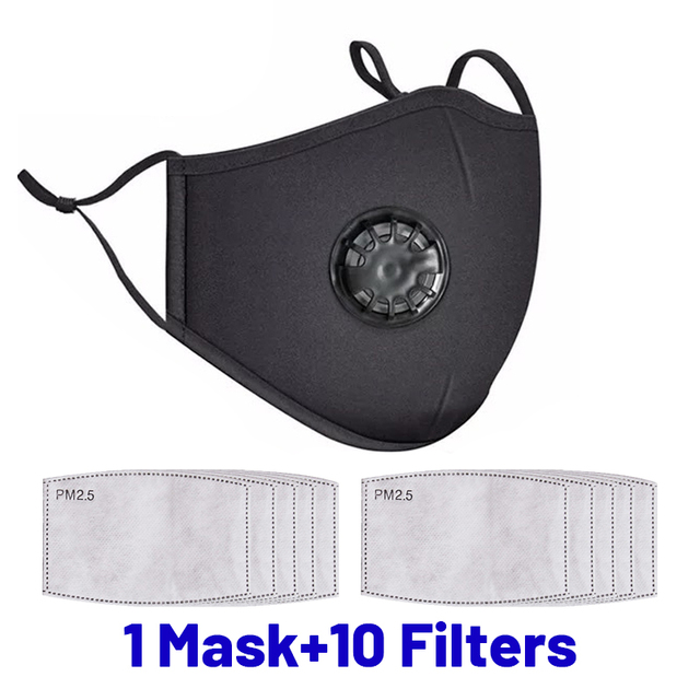 Dustproof Face Mask PM2.5 Anti Pollution Half Face Mouth Mask With Breathing Valve Washable Reusable Sponge Maks Respirator 4