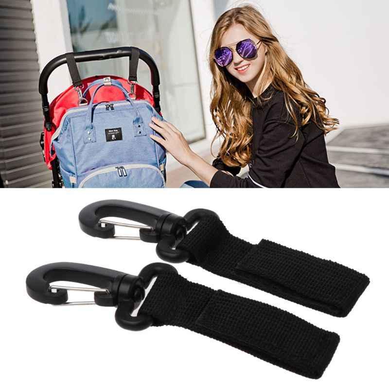 2 sztuk/zestaw haczyki do wózka dla osób poruszających się na wózkach inwalidzkich wózek spacerowy wózek wieszak na torbę wózki dziecięce zakupy klips do torebek akcesoria do wózka dziecinnego