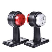 1 Pair Truck Trailer Caravan 12V/24V LED Double Side Marker Clearance Light Warning Lamp Red White Car Styling Bulb
