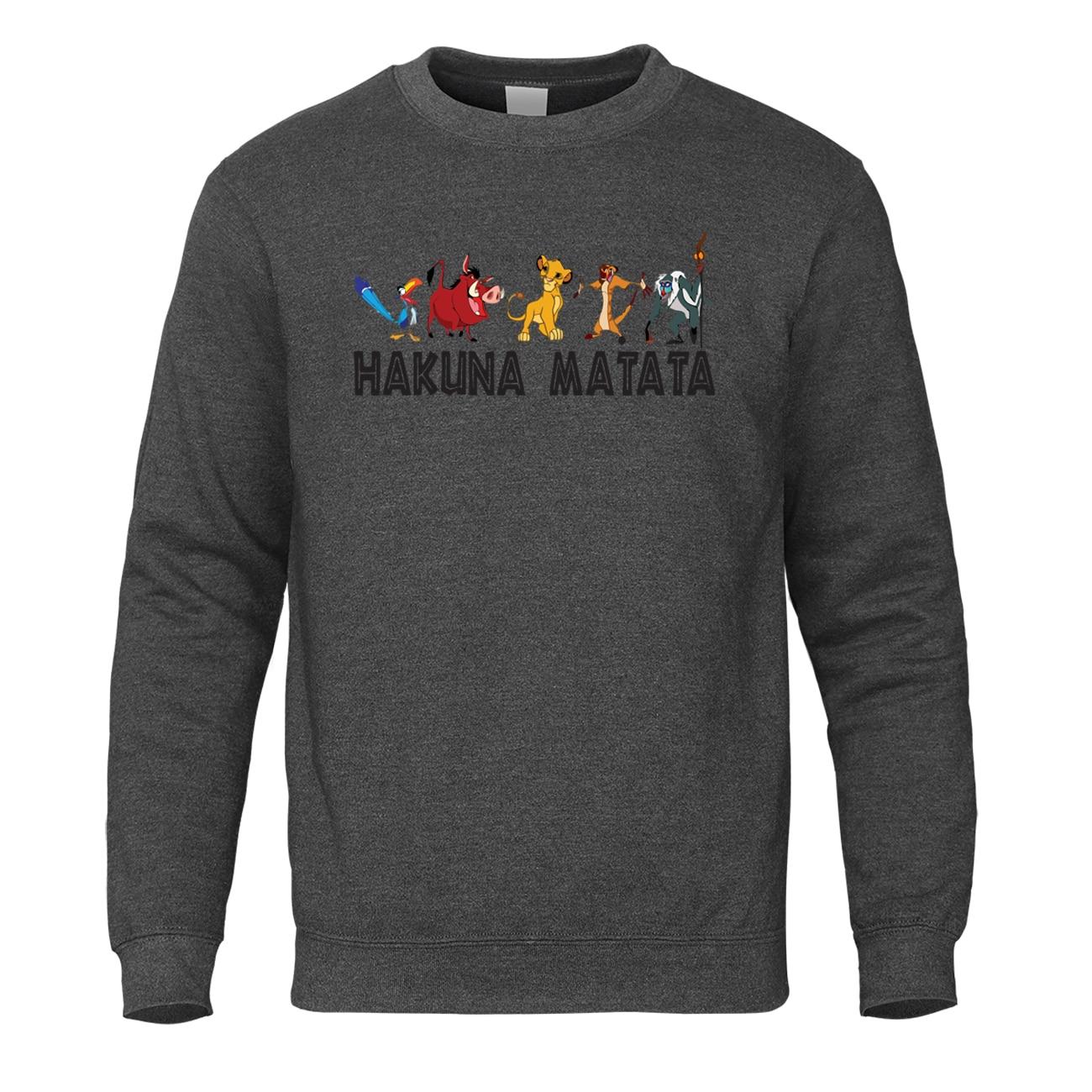 Brand The Lion King Friends Sweatshirt Hoodie Men 2019 Casual Anime Sportswear Mens Autumn Pullover Winter Harajuku Streetwear