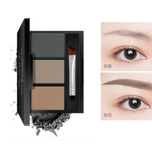 Daily Eye Makeup 3 Colors Eyebrow Powder Palette Waterproof Non-Dizzy Dyeing Easy To Color Enhancers