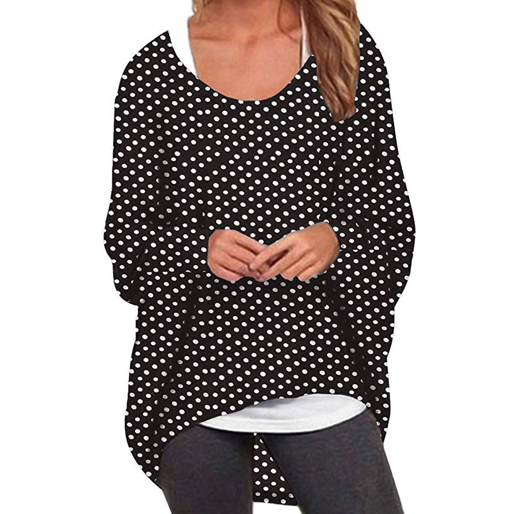 women t shirt autumn and winter long sleeves Women Casual Batwing Sleeve Oversized Baggy Sweater Pullover T shirt Tops in T Shirts from Women 39 s Clothing