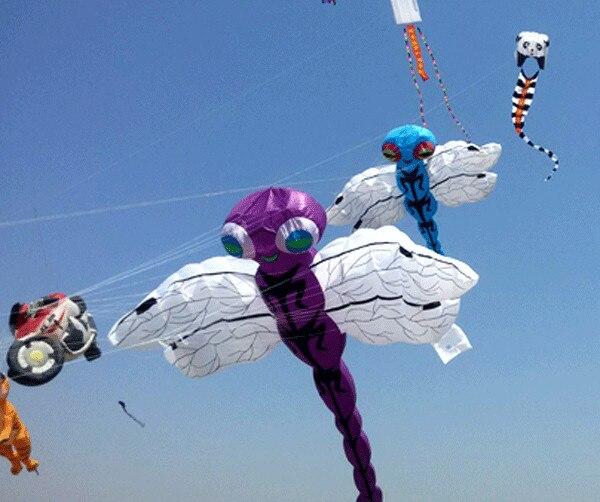 Nouveau grand cerf-volant gonflable libellule cerf-volant festival - 3