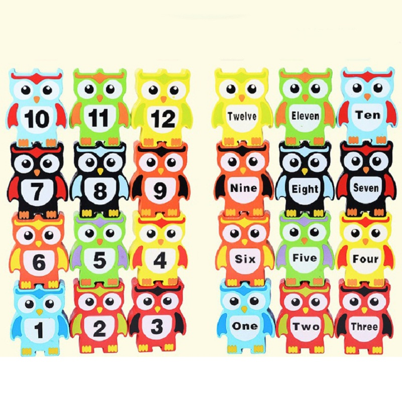 Montessori Wooden Toys Children's Educational Toys Building Blocks Owl Fun Balance Game Educational Toys For Children 3 Years
