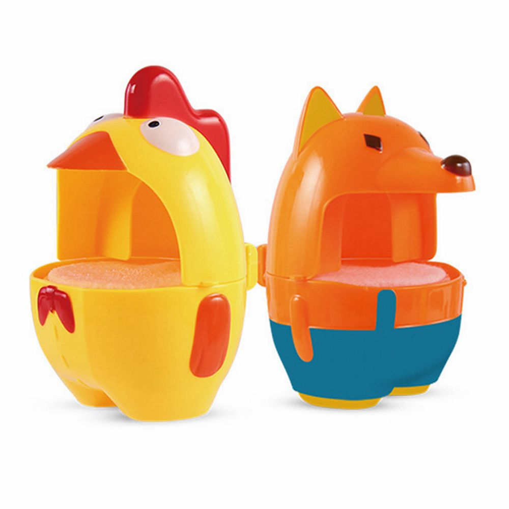 10PCS Outdoor Chick Fox Bubble Liquid Machine Baby Bath Toy Maker Swimming Bthtub Soap Water Toys For Chirldren Beach