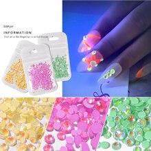 Светящееся украшение для ногтей ювелирное изделие на ногти стразы