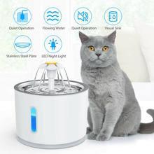 2.4L otomatik kedi su çeşmesi LED elektrikli sessiz su besleyici USB köpek Pet tiryakisi kase Pet içme dağıtıcı kedi köpek