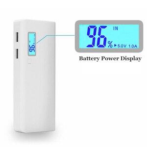 Портативное зарядное устройство 5x18650, портативное зарядное устройство 5 В с двумя USB-портами, корпус для самостоятельной сборки, держатель аккумулятора 18650, зарядное устройство светодиодный светильник кой