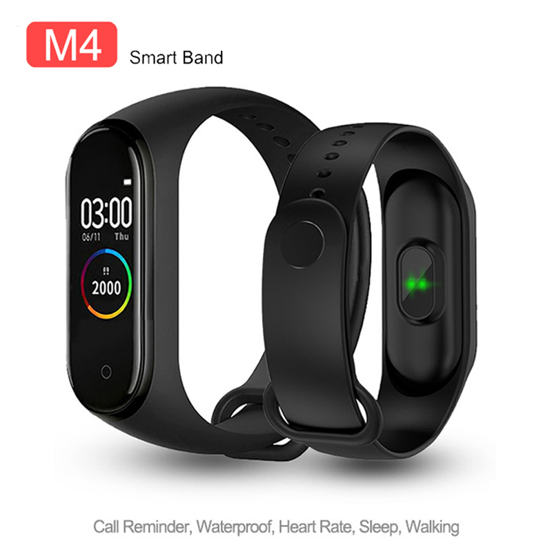 M4 Smart Bracelet Band Fitness Tracker Heart Rate Blood Pressure Messages Reminder Sport Smart Wristband For Android IOS