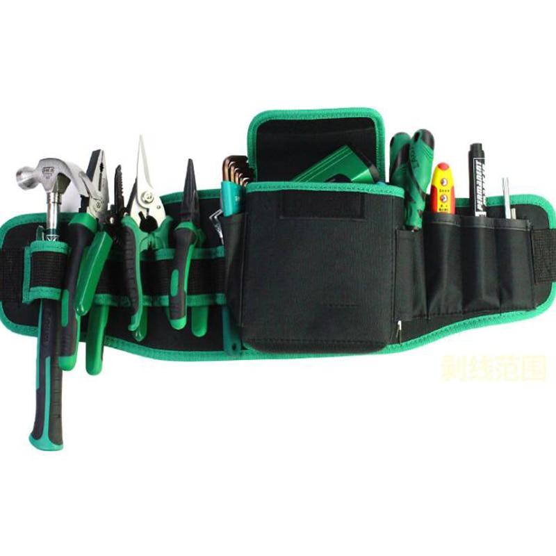 Multi-Function Tool Pockets Strong Oxford Cloth Tool Bag Adjustable Belt Tool Kit Electrician Tool Storage Bag Holder Tool Bag