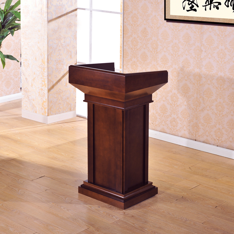 New Solid Wood Podium Speech Desk Welcoming Reception Desk Teacher's Podium Wedding Hosted Vows