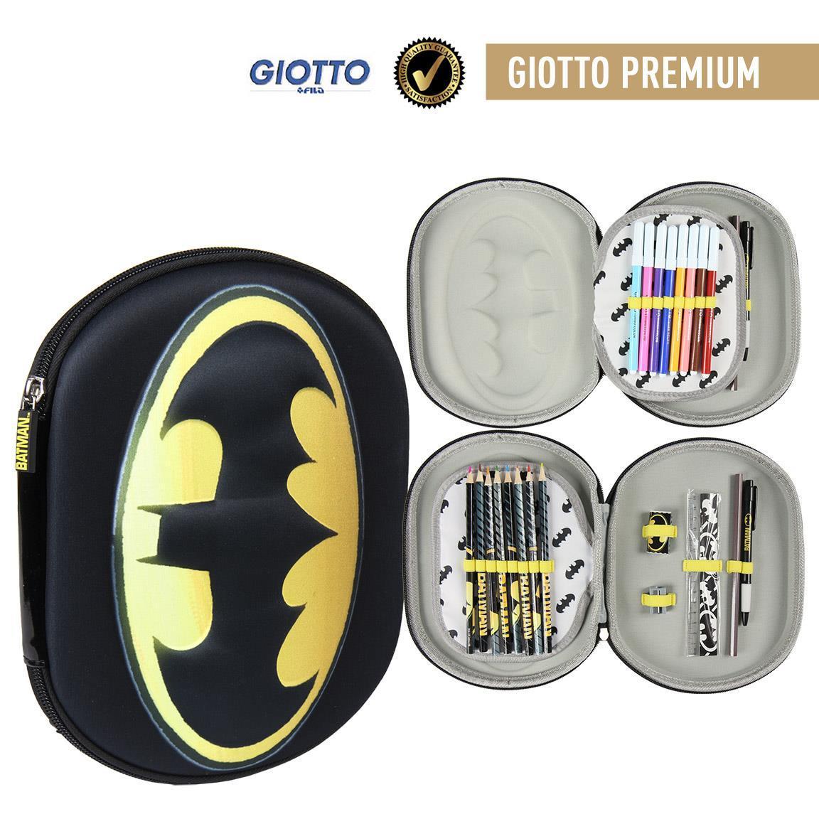 Plumier Triple 3D Batman Officially Licensed Children Gift Original