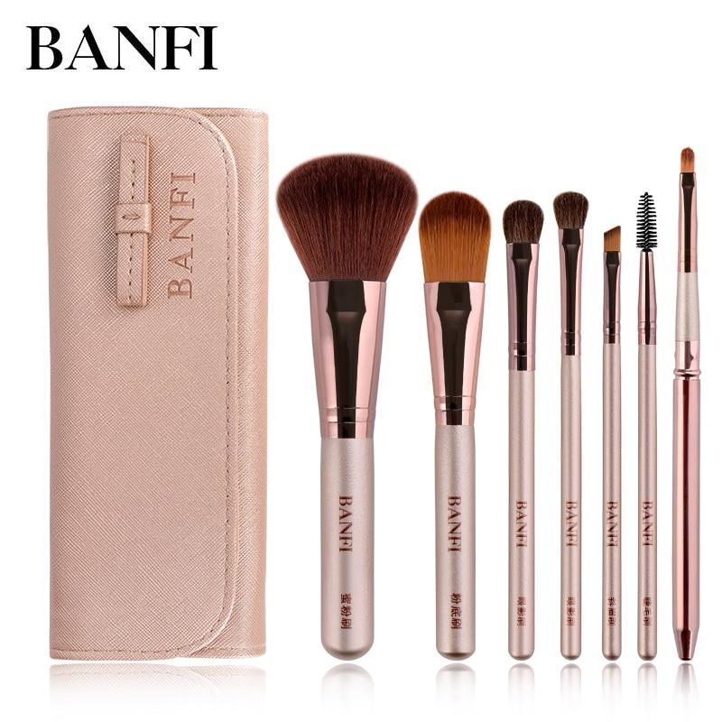 7pcs/set Makeup Brush set for Cosmetic Powder Foundation Eyeshadow Lip Make up Brushes Set Beauty Tool maquiagem Dropship