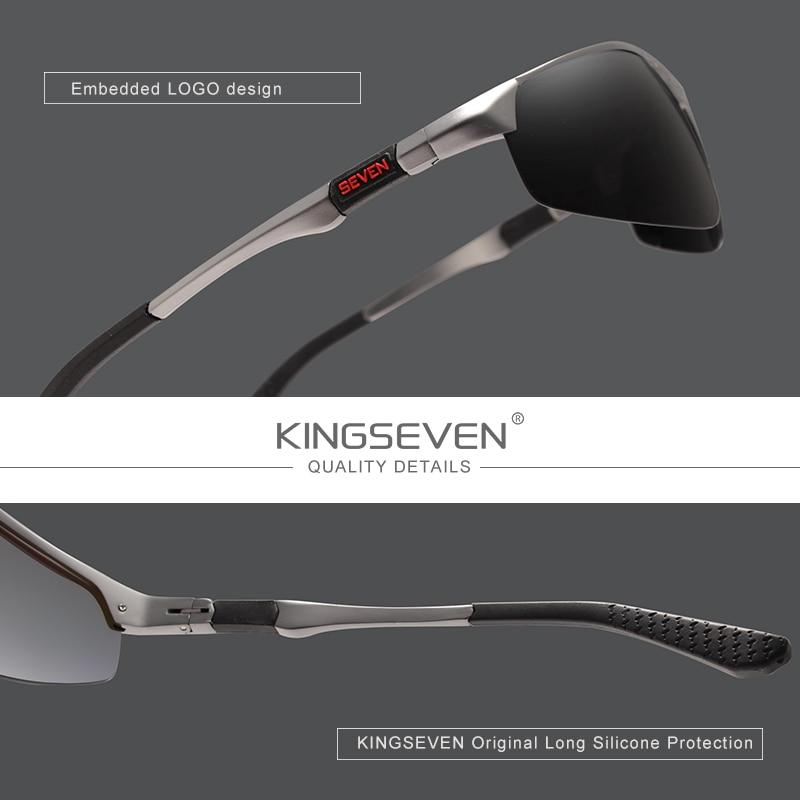 KINGSEVEN Driving Series Polarized Men Aluminum Sunglasses Blue Mirror Lens Male Sun Glasses Aviation Women For Men Eyewear 9121 3