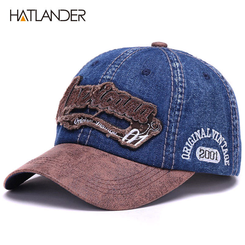 Men Womens Dad Hat Cotton Snapback Classic Denim Caps