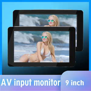 Image 1 - 1024x600 9  Ultra Thin TFT LCD Headrest DVD Monitors HD video input Radio AV Monitor for car audio Android DVD Player Rear Cam