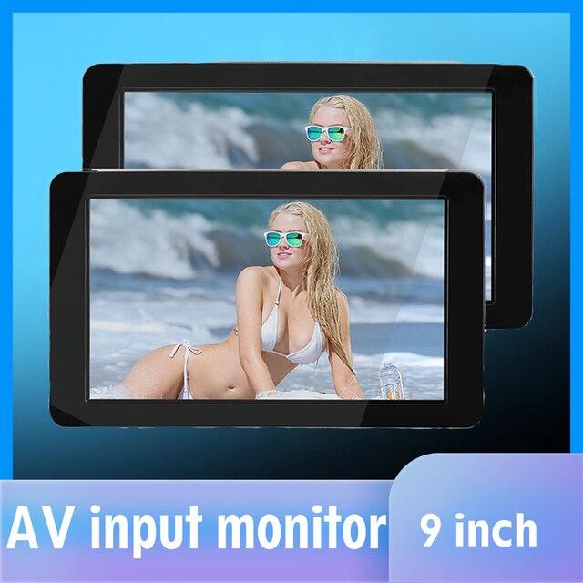 1024x600 9  Ultra Thin TFT LCD Headrest DVD Monitors HD video input Radio AV Monitor for car audio Android DVD Player Rear Cam