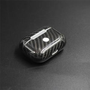 Image 2 - 진짜 탄소 섬유 에어팟 2 에어팟 프로 무선 이어폰 충전 케이스 탄소 섬유 LED 커버 액세서리