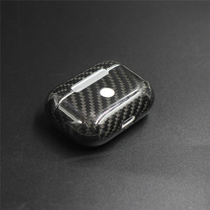 Image 2 - Real Carbon Fiber Case For AirPods 2 for AirPods Pro Wireless Earphone Charging Case Carbon Fiber LED Cover Accessories