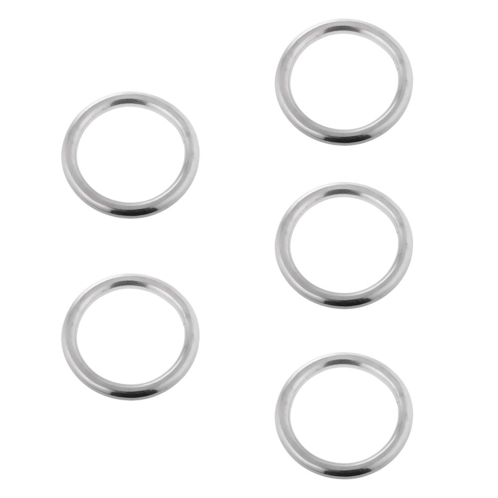 """1//4/""""X 1-1//4/'/' Marine Round O Ring Rigging For Boat 316 Grade Stainless Steel"""