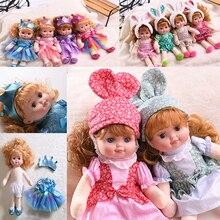 Plush-Doll Beauty Toy Dress Long-Hair Animal Girl Princess 40cm Curl Face Reborn JINGXIN