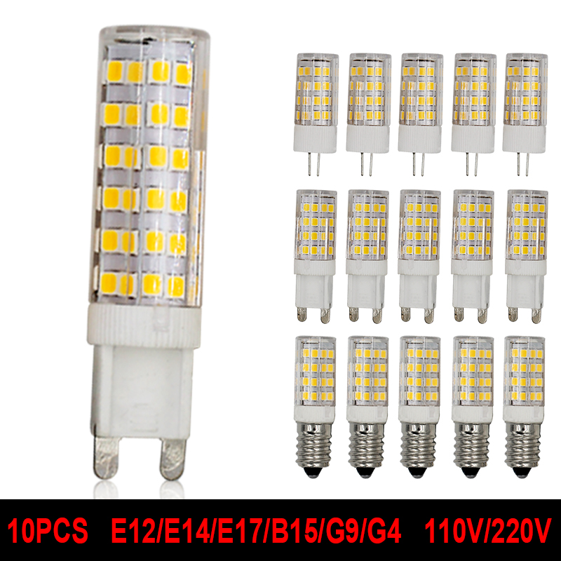 G4 G9 E12 E14 E17 B15 LED Light Bulb 5W 7W 110V 220V Corn Lamp Cob Crystal Chandeliers Replace Bulb Warm Cold White