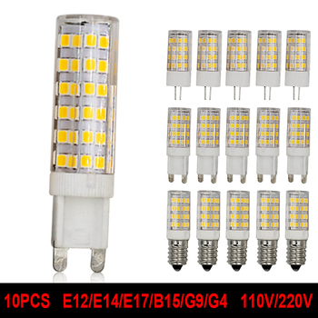 G4 G9 E12 E14 E17 B15 LED Light Bulb 5W 7W 110V 220V Corn Lamp Cob Crystal chandeliers replace bulb warm cold white jrled g4 cob g4 5w 400lm 7200k 9 cob cool white light spotlight silver black 12 14v