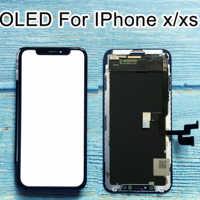 Reemplazo para iphone X pantalla LCD OLED GX Montaje del digitalizador sin píxeles muertos para iphone x pantalla LCD para iphone XS LCD Amoled