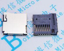 10 PÇS/LOTE 9Pin SMD assento cartão Micro SD TF Micro SD Card Adaptador de Conectores de Solda do Soquete Conector PCB Automático Push/Push Tipo
