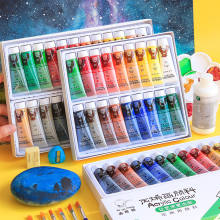 Professional 12/18/24/36 Colors Acrylic Paint Set 12ML Hand Painted Wall Drawing craft Painting Pigment Set For Art Supplies