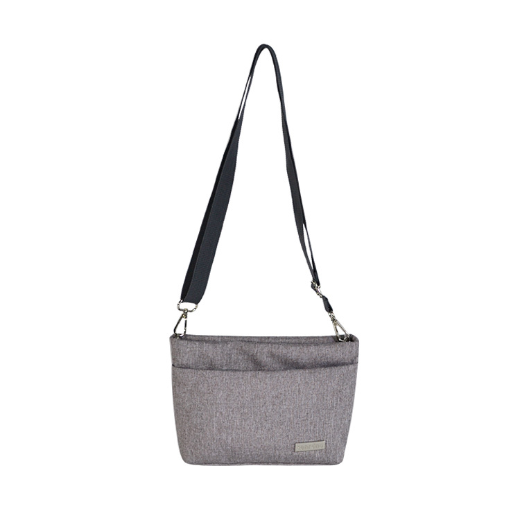 Anti-Theft Shoulder Bag Sports Canvas Travel Digital Computer Bag Double Color Blended Polyester Fiber Fabric