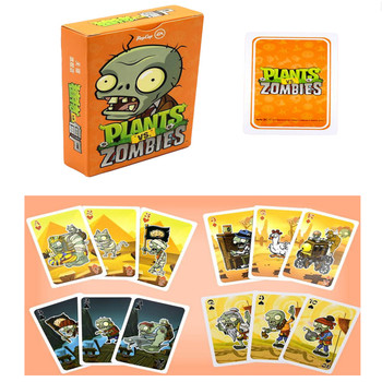 1 set Poker Paper Cards Plants vs Zombies Garden Warfare Sunflower Pea Seed Pirates Zombie Collect Card Kid Gift Toy 1