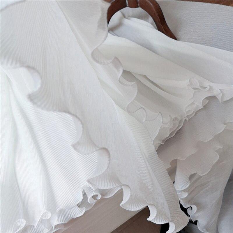 50CM 3 Layers Chiffon Ruffle Lace Trim Pleated Ribbon Dress Clothing Sewing DIY