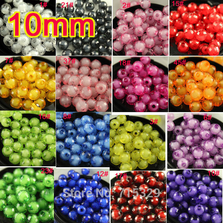 Hot Lot 100pcs 10mm Watermelon Acrylic Beads In Beads Spacer Beads For Jewelry