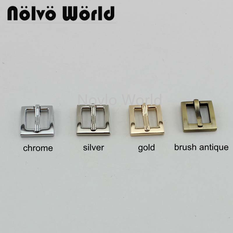 Wholesale 500pcs, 5 Colors Accept Mix Color,18.5mm, Metal Handbag Buckle Pin Buckle Belt Webbing Adjustment Hook