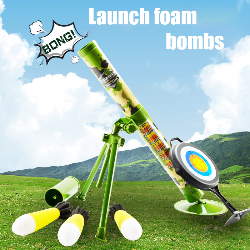 Children's Jedi Mortar Pursuit Bomb Prepared For Munition Hand-held Eating Chicken Cannon Combat Military Model Toy Gun