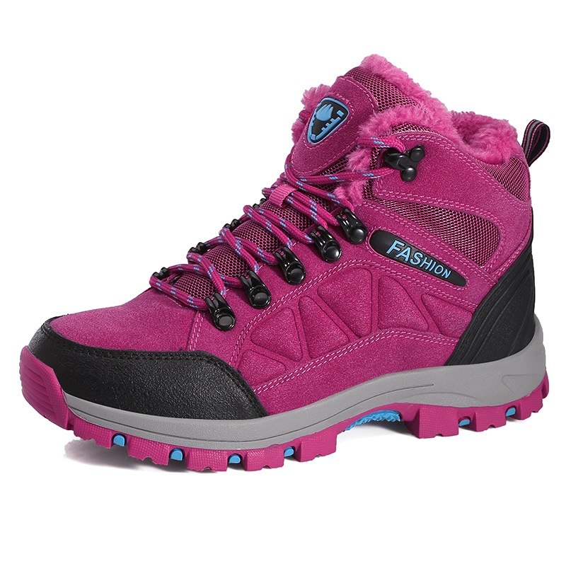 Frauen Winter Stiefel Warme Wandern Stiefeletten Damen Berg Klettern Schnee Stiefel Sport Schuhe Männer Nicht Slip Wanderschuhe Unisex
