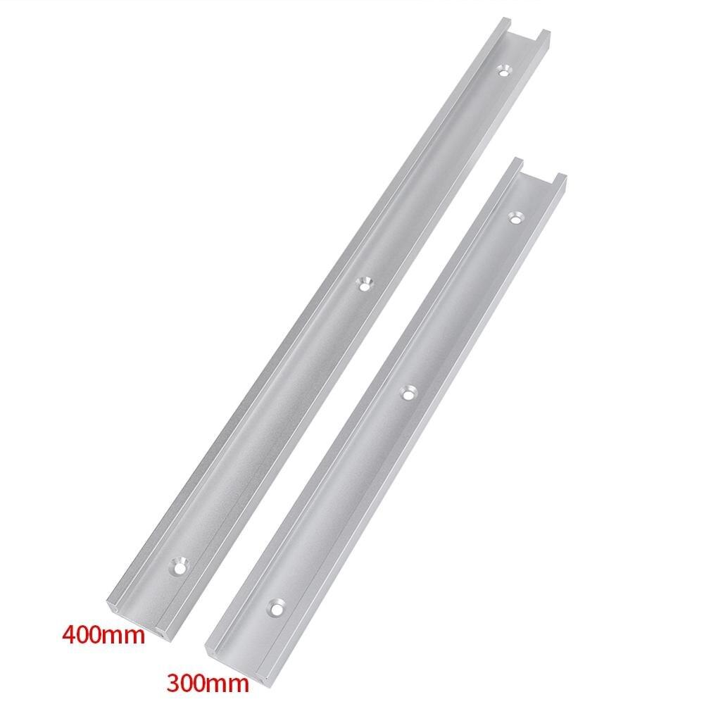 Aluminum Alloy T-Track Miter Track Jig Fixture T-Slot Slider Woodworking Pressboard Clamp DIY Workbench Machine Tools 2 Sizes