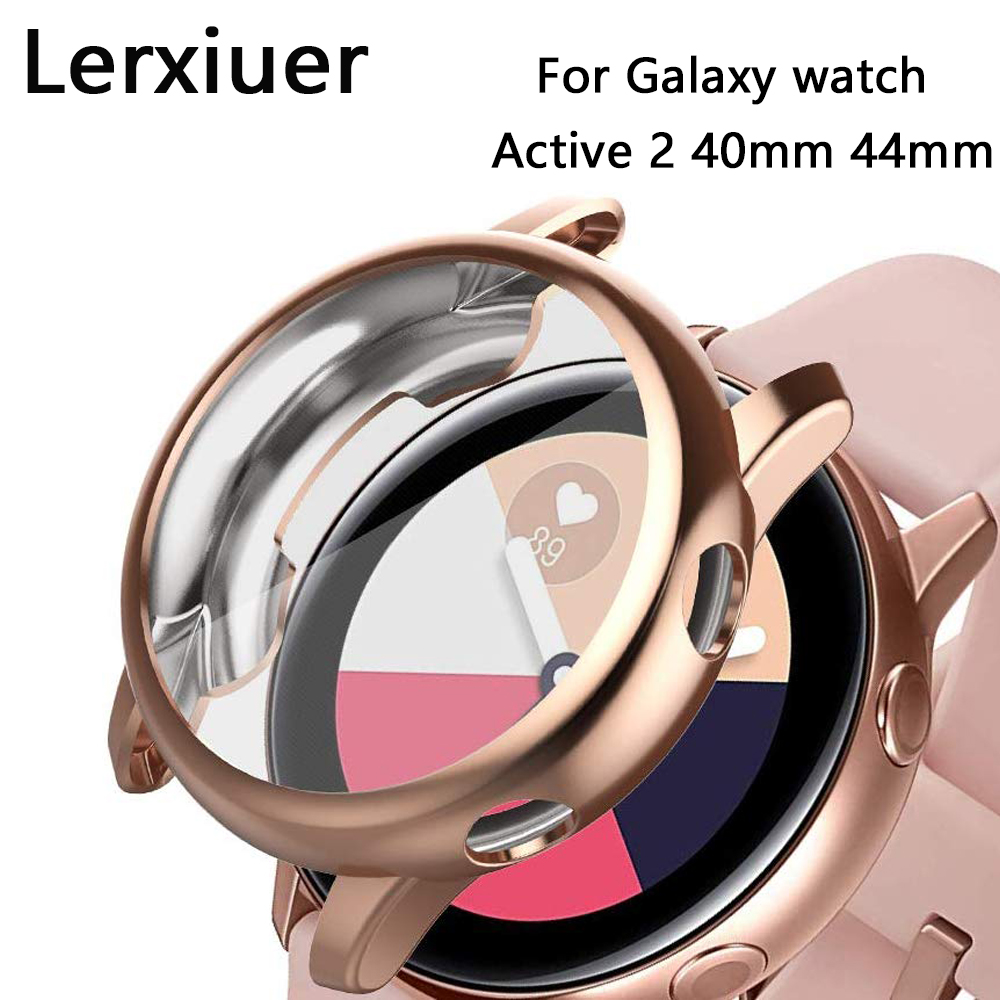 Case For Samsung Galaxy Watch Active 2 40mm 44mm Bumper Full Coverage Soft TPU Silicone Screen Galaxy Active Protection Cover