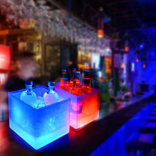 Светодиодный ледяной ковш 5L охладитель вина цвета Изменение шампанское вино ведро для вечерние бар SLC88