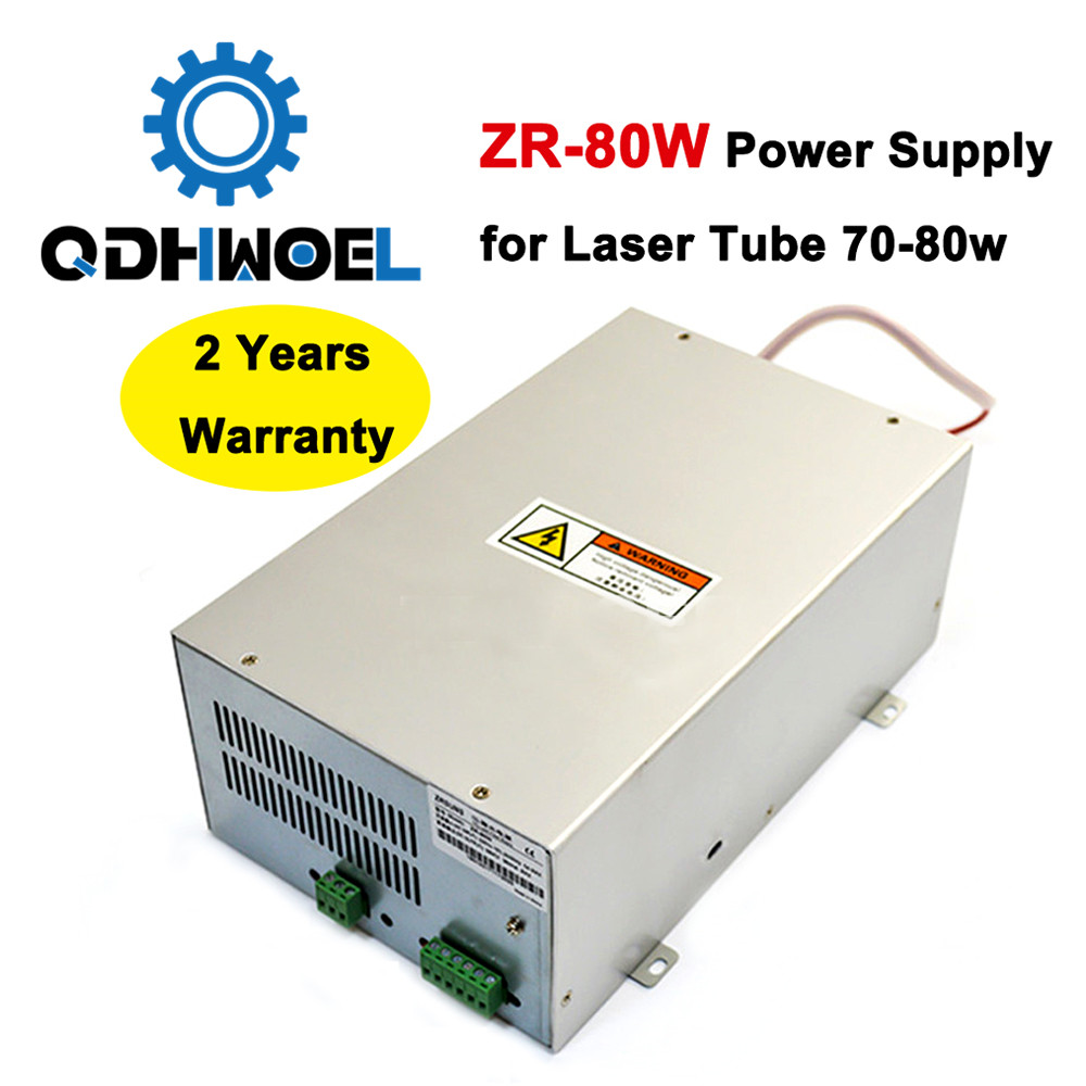 80 Watts Laser Power Source For 70W 80W Co2 Glass Laser Tube Engraving And Cutting Machine