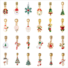 DIY Christmas Metal Alloy Pendant Drop Ornaments Christmas tree Hanging Christmas Decoration Jewelry Accessories(China)