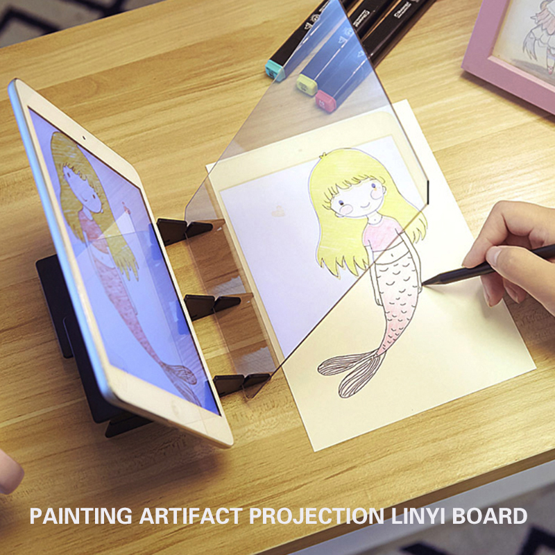 Drawing Board Portable Painting Magic Painter Projection Anime Copy Stereoscopic Pc Child Tracing Board Fan Copy Station