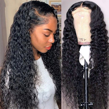Brazilian Deep Wave Lace frontal Human Hair Wigs 13*4 Lace Frontal Wigs With Baby Hair Pre Plucked Natural Hairline Lace Wigs lace frontal human hair wigs brazilian water wave wig pre plucked natural hairline 150% beaudiva remy 13 4 human hair wigs