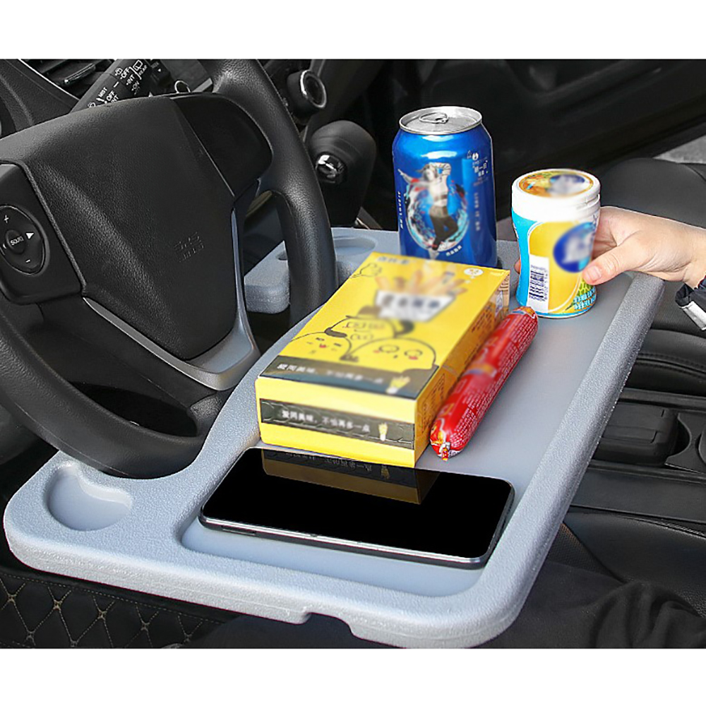 Multifunctional <font><b>Car</b></font> Laptop Stand Notebook <font><b>Desk</b></font> Steering Tray Auto Drinks Holder Steering <font><b>Wheel</b></font> Small Card Table <font><b>Car</b></font> Food Tray image